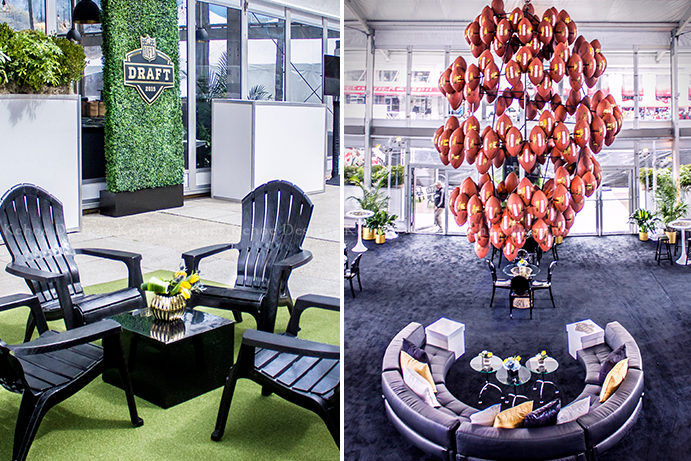 Kehoe Designs, event, event design, corporate events, Chicago event design, NFL Draft, sports, experiential, activations, event decor, branding, corporate design
