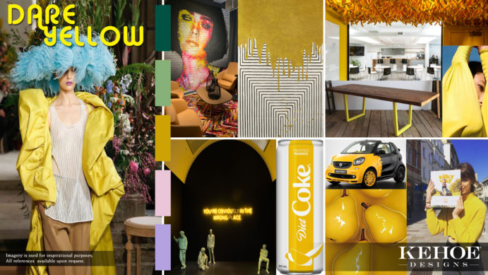 Kehoe Designs, Andy Warhol, Trends, Trend, Dare Yellow, Happy Event Design, Positive Experience, Positive Event Decor, Self-Expression, Design, Yellow, Bold Event Design, Power Dressing