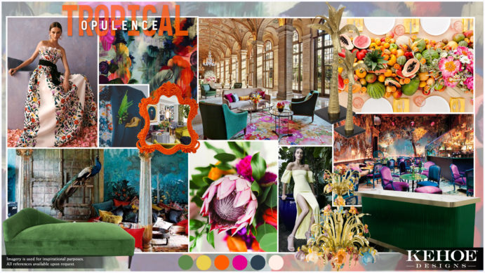 Kehoe Designs, Tropical Opulence, Design, Floral Design, Flowers, Vibrant Colors, Tropulent, Tropulence, Decor, Wedding, Chicago Wedding, Luxury Wedding, Luxury Design, Trend, Tropical Opulence 2020 Trend, Event Trend, Design Trend