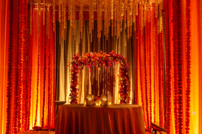 Kehoe Designs, The Geraghty, BlackOak Technical Productions, Luxury Wedding, Tropical Opulence, Indian Wedding, South Asian Wedding, South Asian Bride, Mandaps, Chicago Wedding Venue, Luxury Venue, Wedding, Bride and Groom, Colorful Wedding, 2020 Wedding Trends