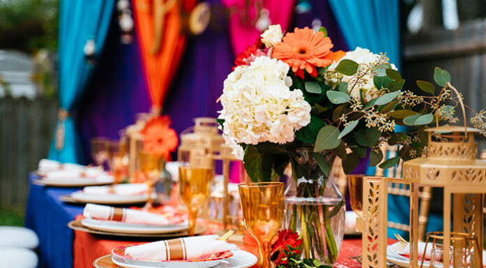 KEHOE DESIGNS, baby shower, event, celebration, sprinkle, event decor, floral, flowers, centerpiece, Moroccan theme, backyard event, colorful, vibrant designs, Chicago